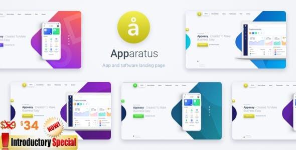 Apparatus - A Multi-Purpose One-Page Portfolio and App Landing Theme