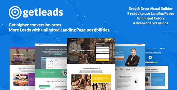 Getleads High - Performance Landing Page WordPress Theme