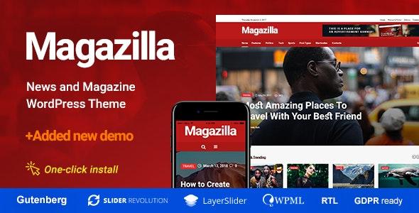 Magazilla  - News - Magazine Theme