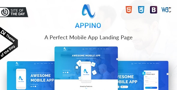 APPINO! - A Perfect Mobile App Landing Page