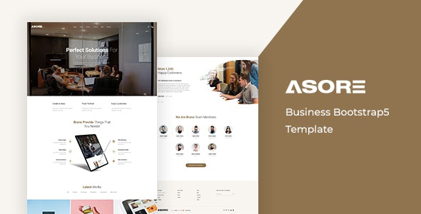 Asore - Business Bootstrap Template