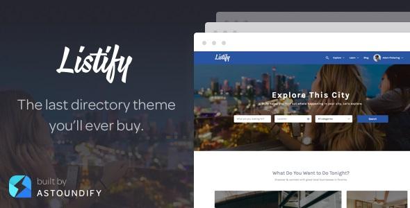 Listify - WordPress Directory Theme GPL