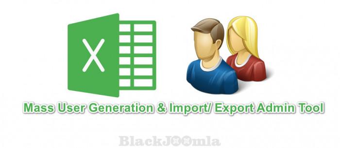 Mass User Generation - Import/ Export Admin Tool