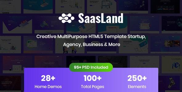 SaasLand - Creative HTML Template for Saas