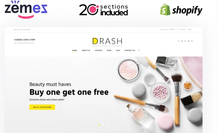 TM Drash - Shopify Wholesale eCommerce Template Shopify Theme