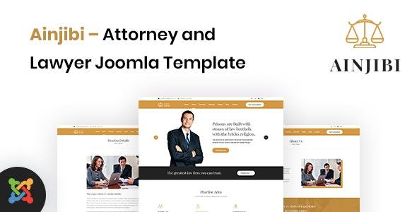 Ainjibi - Attorney and Lawyer Joomla Template