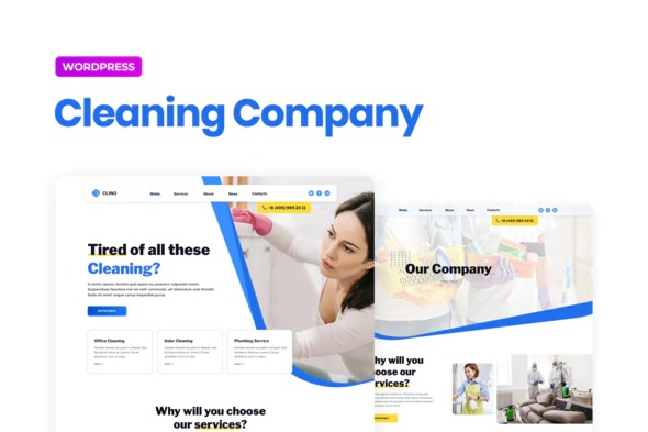 Clino - Cleaning Business Elementor Template Kit