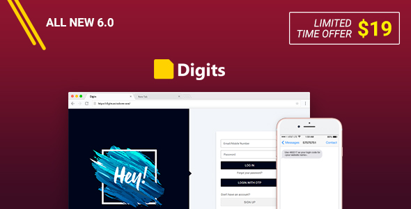 Digits + Addons Pack - WordPress Mobile Number Signup and Login
