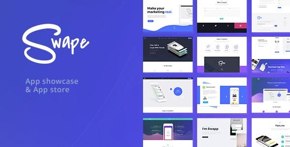 Swape - App Showcase - App Store WordPress Theme