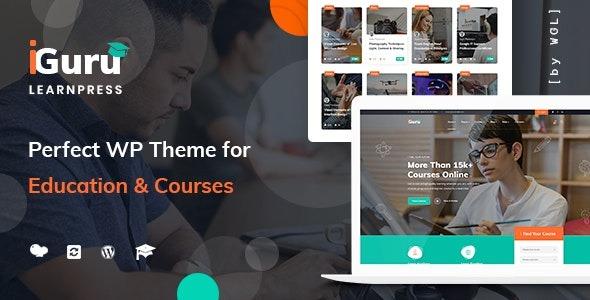 iGuru - Education - Courses WordPress Theme