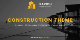 Karion - Construction - Building WordPress Theme