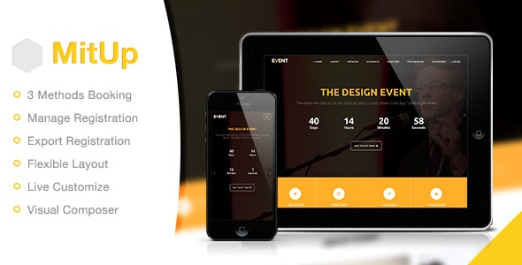 MitUp Event - Conference WordPress Theme