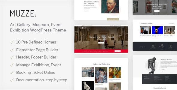 Muzze - Museum Art GOthersery Exhibition WordPress Theme