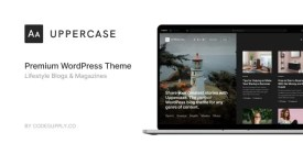 Uppercase WordPress Blog Theme With Dark Mode