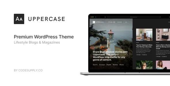 Uppercase WordPress Blog Theme With Dark Mode