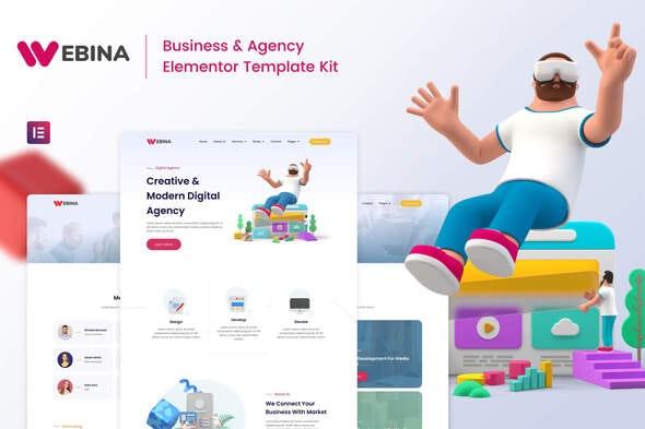Webina - Business Agency - Startup Elementor Template Kit
