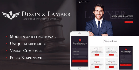 Dixon - Lamber | Law Firm WordPress Theme