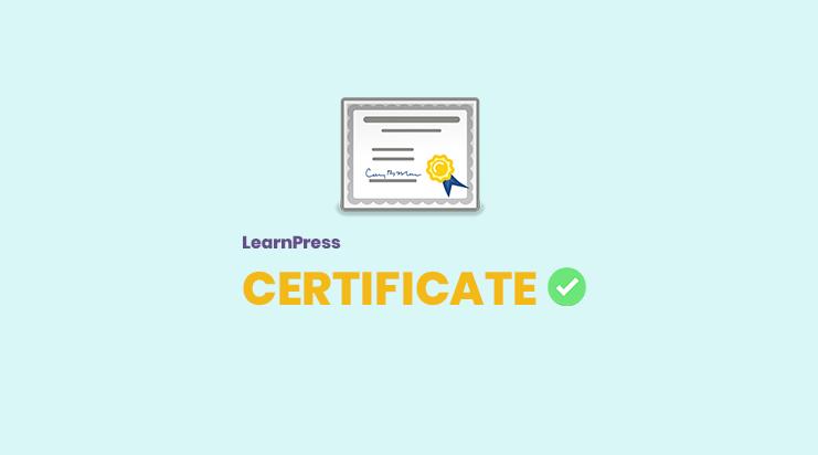 LearnPress Certificates Add-on