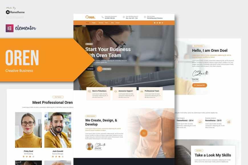Oren - Creative Business Elementor Template Kit