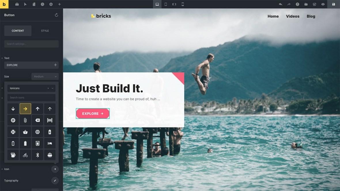 Bricks - visual website builder for WordPress