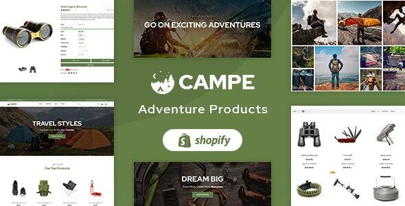 Campe - Camping - Adventure Shopify Theme