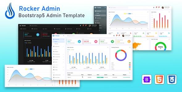 Rocker - Bootstrap Admin Dashboard Template