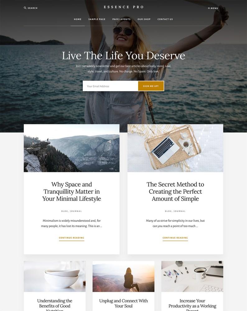 StudioPress Essence Pro WordPress Theme