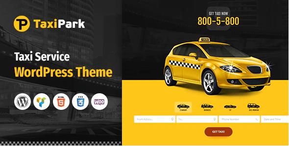 TaxiPark - Taxi Cab Service Company WordPress Theme