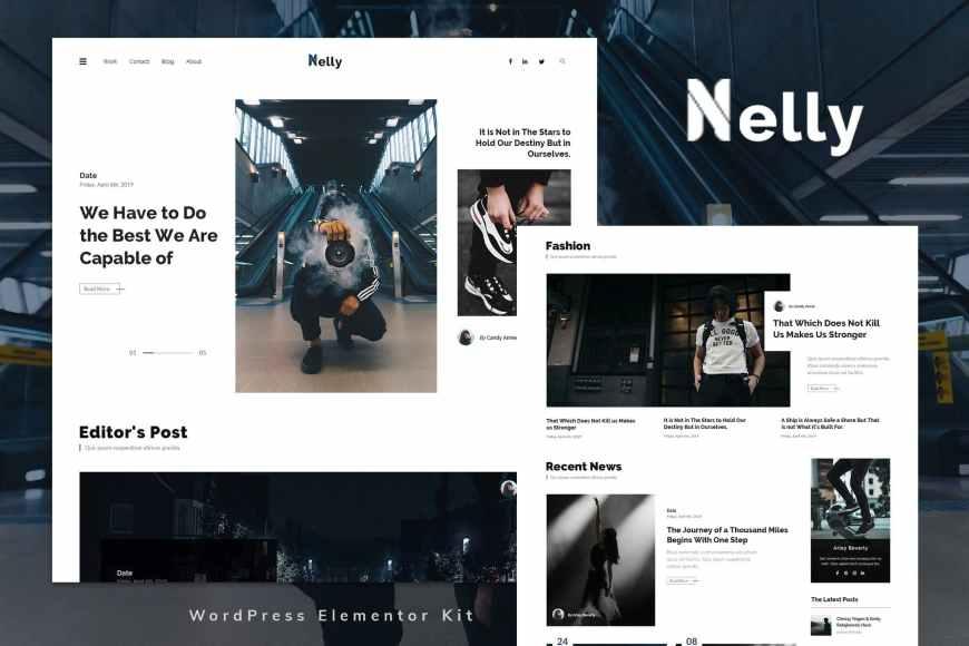 Nelly - Blog - Magazine Elementor Template Kit