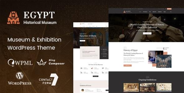 Egypt - Museum - Exhibition WordPress Theme