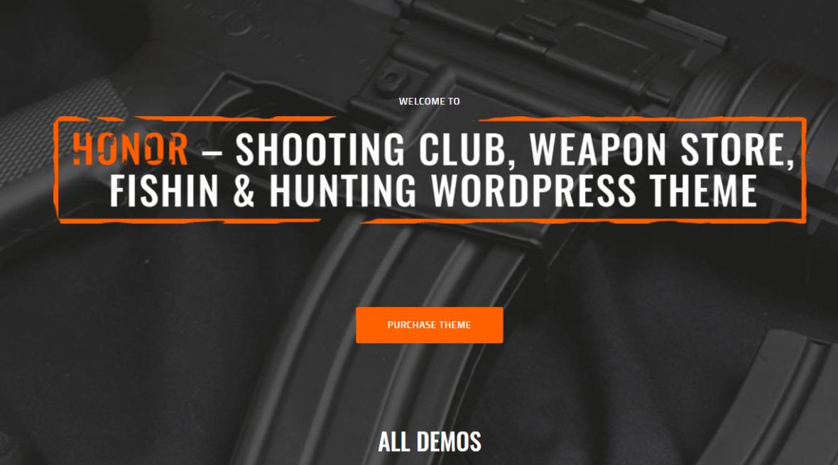 Honor | Shooting Club and Weapon Shop WordPress Theme