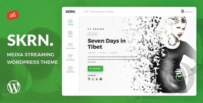 SKRN - Media Streaming App WordPress Theme