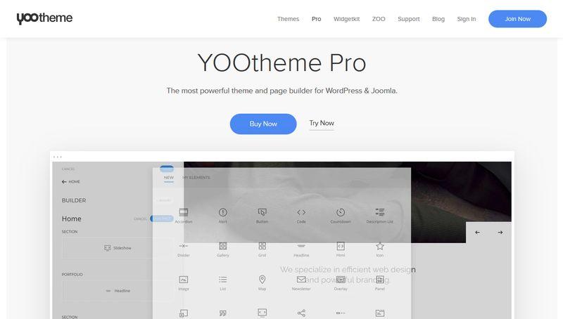 YOOtheme Pro - WidgetKit