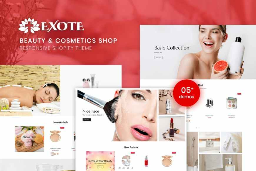 Exote - Beauty - Cosmetics Shopify Theme