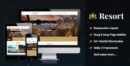 JA Resort - Booking Hotels AndResorts Joomla Template