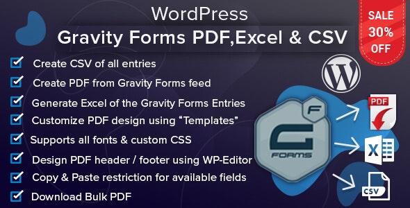 WordPress Gravity Forms PDF