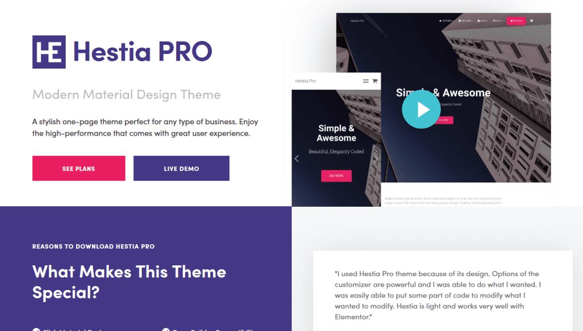 Hestia PRO #1 Multi-Purpose WordPress Theme 2019