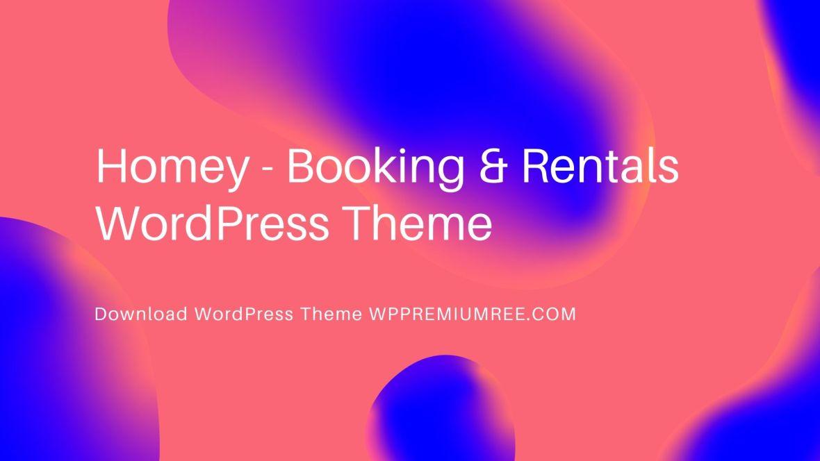 Homey Booking Rentals WordPress Theme