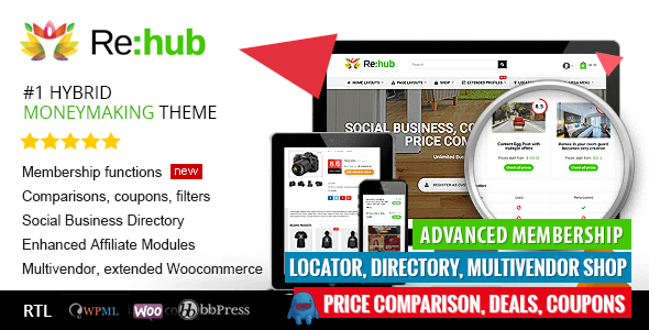 Rehub Directory Shop Coupon Affiliate Theme