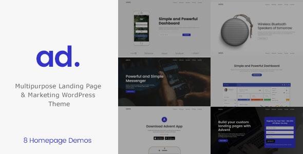 Advent - Marketing Landing Page WordPress Theme