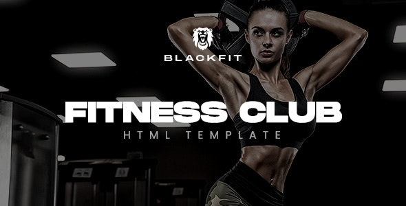 Blackfit - Fitness Gym Club Website Template