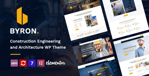 Byron - Construction and Engineering WordPress Theme