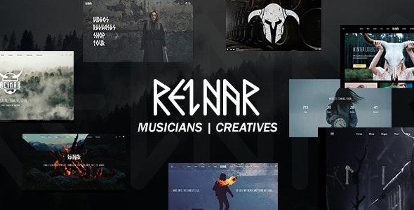Reinar - A Nordic Inspired Music and Creative WordPress Theme