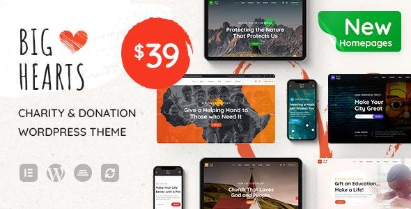 BigHearts - Charity - Donation WordPress Theme