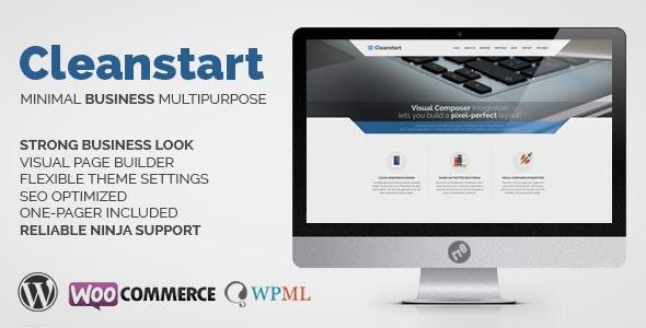 Cleanstart - Corporate Business WordPress Theme