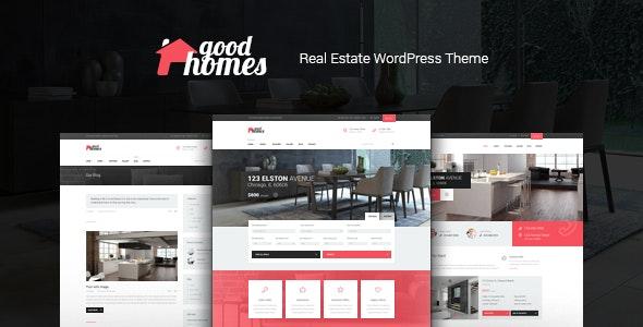 Good Homes - A Contemporary Real Estate WordPress Theme