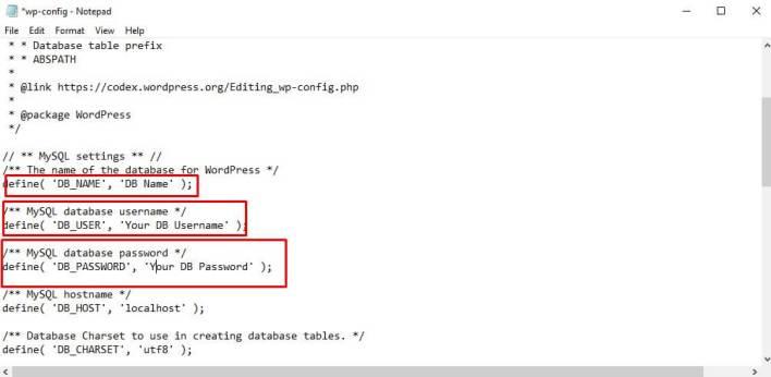 Configure wp-config File