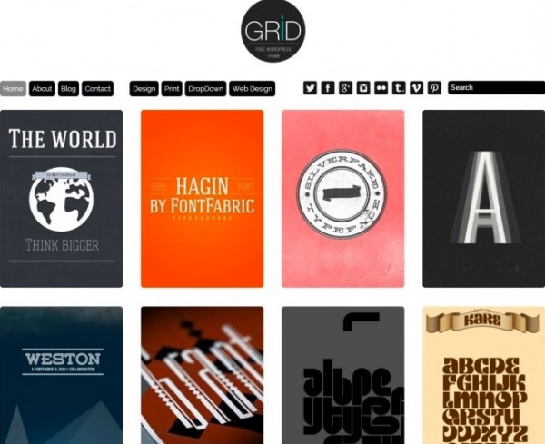13 best minimalist wordpress Grid Theme