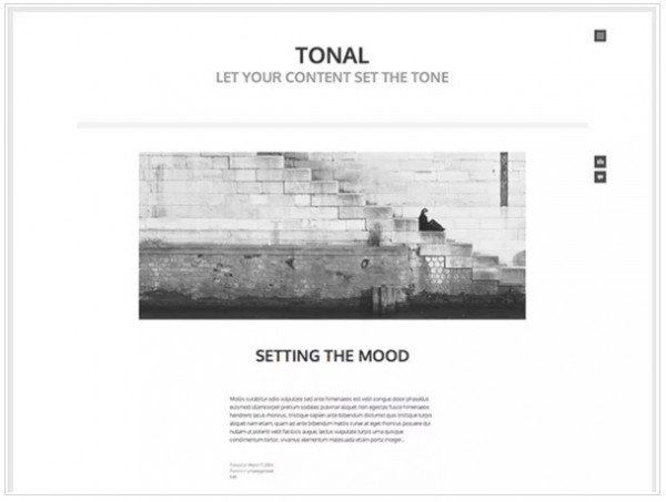 Best Free Minimalist WordPress Themes Tonal