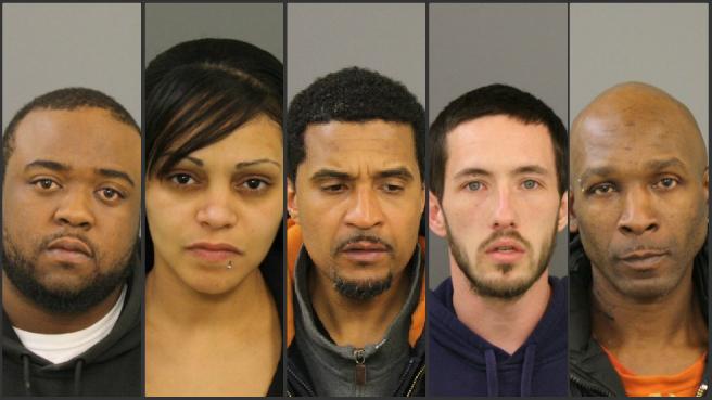 Drug raid nets five arrests in New Bedford